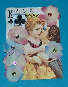 Blackberry Creek Home Arts: Altered Playing Cards Playing Card Crafts, Playing Cards Art, Atc Cards, Journal Cards, Junk Journal, Journal Ideas, Altered Books, Altered Art, Paper Art