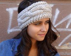 VERKOOP kabel brei hoofdband Winter hoofdband vrouwen grijze