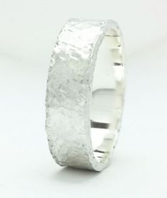 Sterling Silver 2,3,4,6 and 10mm Flat Hammered Wedding Band Ring All Us Sizes  #Handmade #Band