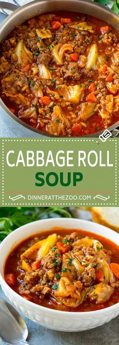 Leave out rice and sugar possibly carrots depending on macros for a keto friendly version Cabbage Roll Soup Recipe Unstuffed Cabbage Soup Cabbage Soup Recipe Beef and. Cabbage Soup Recipes, Beef Recipes, Cooking Recipes, Healthy Recipes, Beef Cabbage Soup, Stuff Cabbage Soup, Recipes With Cabbage, Cabbage Meals, Chicken Recipes