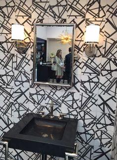 Ann Sacks tile in Maven Solstice by Kelly Wearstler Beautiful Bathrooms, Beautiful Kitchens, Ceramic Floor Tiles, Kelly Wearstler, Tile Design, Decor Interior Design, Decorating Ideas, Flooring Ideas, Sacks