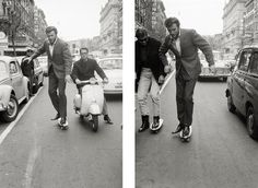 Clint: why are you skateboarding in pointy shoes and a suit?