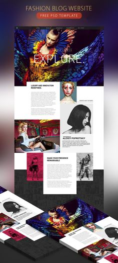 Fashion Blog Website Free PSD Template