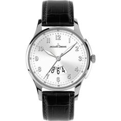 Jacques Lemans London 1-1736C 43mm Stainless Steel Case Leather Mineral Men's Watch | Your #1 Source for Watches and Accessories