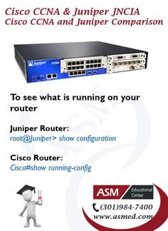 "Cisco CCNA and Juniper Junos JNCIA Certification - To check if link is up or down. For More info please visit <a href=""http://asmed.com/juniper-networks-certified-associate-junos-jncia-junos-jn0-102/"" rel=""nofollow"" target=""_blank"">asmed.com/...</a>"