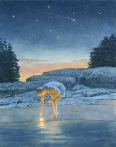 Fallen Star by Greg Mort - I bought this poster from Greg Mort at one of his open houses in Maine.