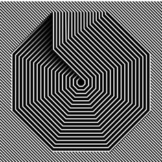 exploring OpArt in Illustrator Op Art, Art Optical, Optical Illusions, Geometric Designs, Geometric Shapes, Grafik Design, Painting Patterns, Foto E Video, Insta Art
