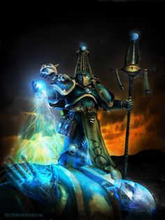 warhammer-fan-art:  Thousand Sons by Firstkeeper
