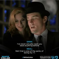 Sara and Neal, one of my favorite couples from the series. #collarcountdown