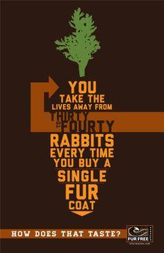 Anti-Fur Poster Design by Daniel Holt, via Behance