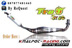 knalpot fizr kalajengking kolong racing merk TYB kolor ijo