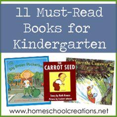Eleven must-read books for kindergarten and preschool children from www.homeschoolcreations.net