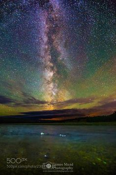 The Milky Way over the Madison River Yellowstone National Park