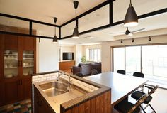No.0388 カフェ風キッチンとオーダーメイド家具。オリジナリティ満載のオシャレLDK(一戸建て)   リフォーム・マンションリフォームならLOHAS studio(ロハススタジオ) presented by OKUTA(オクタ)