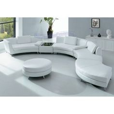 white leather-seating furniture-3 by furniture and architecture, via Flickr