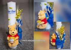 Lumanare botez winnie the pooh www. 1 Year Baby, 1st Year, Baby Shower Souvenirs, Winne The Pooh, Baptism Candle, Candels, Nice Ideas, Baby Party, Tudor