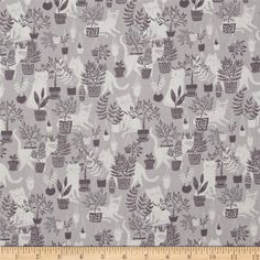 Dear Stella City Life Windowsill Cats Grey from @fabricdotcom  Designed by Rae Ritchie for Dear Stella Designs, this cotton print collection is perfect for quilting, apparel and home decor accents. Colors include grey and off-white.