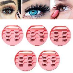 e3ea879b873 US$14.36 - 6Pcs 3D Magnetic False Eyelashes Natural Thick Eye Lashes  Extension Eyes Makeup With