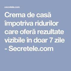 Crema de casă împotriva ridurilor care oferă rezultate vizibile în doar 7 zile - Secretele.com