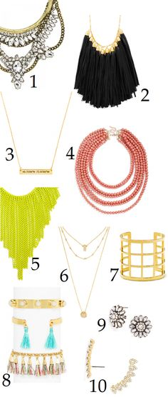 I love all this stuff! - except the greeny fringe necklace.