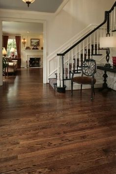 coffee brown stained red oak
