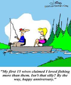 Fishing Comics, cartoons, fishing jokes, fishing joke book