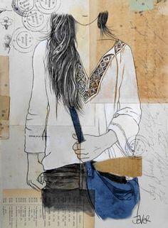 "Saatchi Art Artist Loui Jover; Drawing, ""wanderer.......................(SOLD)"" #art"