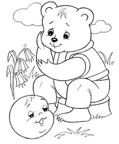 Kolobok Coloring Book Pages, Coloring Sheets, Wall Patterns, Drawing For Kids, Conte, Printable Coloring, Coloring Pages For Kids, Nursery Rhymes, Kids And Parenting