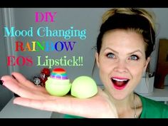 DIY Mood Changing RAINBOW EOS Lipstick!! - YouTube - do with Kate??