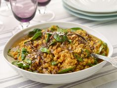 Spinach-and-Garlic Lentils Recipe : Food Network Kitchen : Food Network - FoodNetwork.com