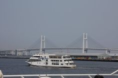 Marine Shuttle. cruising ship of Yokohama bay.