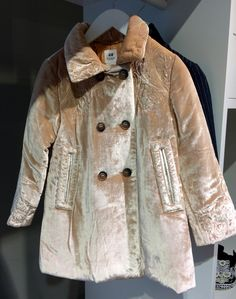 Lush velvet padded coat at H&M Studio girls fashion for fall 2016