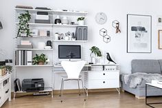 My Scandinavian workspace in the middle of our apartment is one of my favourite spots | www.my-full-house.com | Top Scandinavian Interior and Lifestyle Blog