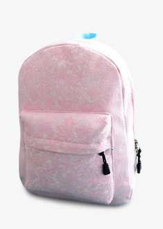Vintage Inspired Floral Pink Backpack