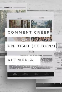 Comment créer son kit média et approcher les entreprises quand on a un blogue