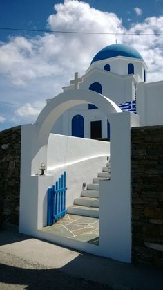 Agios Georgios in Ano Meria -Folegandros Island, Greece Paros, Crete Island, Greek Culture, Santorini Greece, Small Island, Macedonia, Greek Islands, Beautiful World, Architecture Art