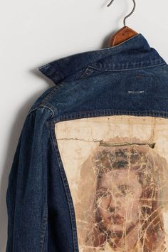Kunstenaar Jacket, Maiden-Anthropologie    I adore this concept. Not so much the look of that painting, or the denim jacket; but the possibilities of what is *could* be..