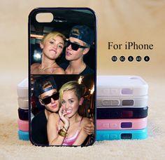 Miley Cyrus,Justin Bieber,iPhone 5 case,iPhone 5C Case,iPhone 5S Case, Phone case,iPhone 4 Case, iPhone 4S Case,Case-IP002Cal