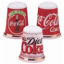 Coke thimbles   ........  #coke ....... #coca-cola