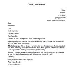 cover letter format cover letter format basic name address city state 999 999