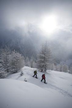Winter in the Ötztal Valley, Tyrol, Austria. Snowshoeing in Sölden #winterwonderland