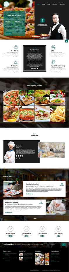 Catering is a Clean Responsive HTML5 #Template Designed with Bootstrap for…
