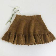 dk – Knitting for Sif Knitting For Kids, Baby Knitting Patterns, Crochet For Kids, Baby Patterns, Crochet Bebe, Knit Crochet, Girls Skirt Patterns, Knit Baby Dress, Baby Skirt