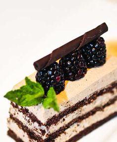 Chocolate and blackerry liquer layer cake - Simsbury Inn