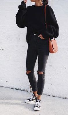 all black outfit + chuck taylors