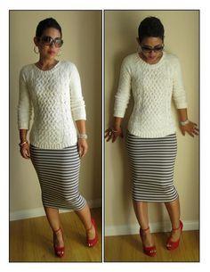 Super easy pencil skirt: 15 min. great tutorial.  Summer skirts?