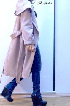 Hooded Long Wool Coat/ Winter Cape Coat /Cashmere Wool Coat