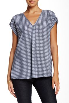 Pleated V-Neck Blouse by Pleione on @nordstrom_rack