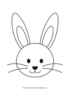 Free printable Easter Coloring Pages eBook for use in your classroom or home from PrimaryGames. Print and color this Simple Bunny Head Outline coloring page.