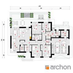projekt Dom w alwach 4 rzut parteru Cottage Plan, Home Projects, Planer, Architecture Design, House Plans, Sweet Home, Floor Plans, Construction, House Design